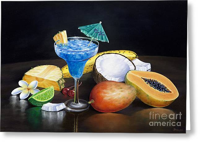 Mango Paintings Greeting Cards - Gone Troppo Greeting Card by David Ardley