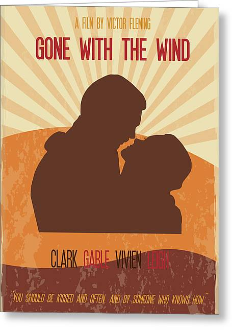 With Greeting Cards - Gone With The Wind Poster Art Greeting Card by Florian Rodarte