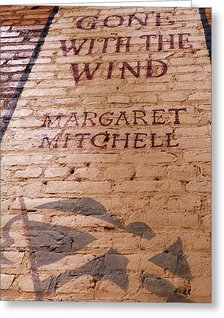 Childrens Story Book Greeting Cards - Gone With The Wind - Urban Book Store Sign Greeting Card by Steven Milner