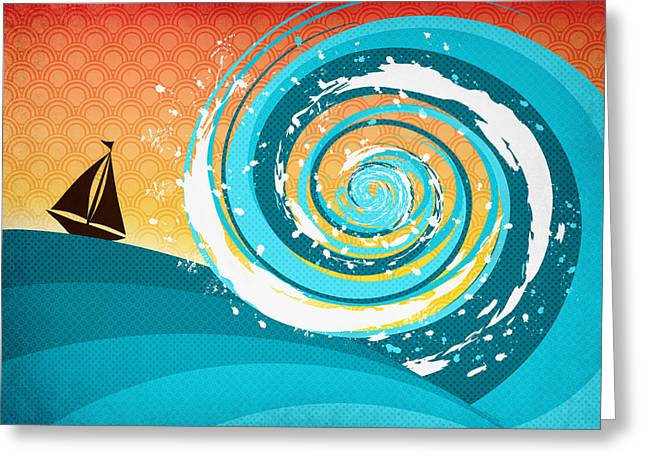 Rowe Digital Art Greeting Cards - Gonna Need A Bigger Boat Greeting Card by Shawna  Rowe