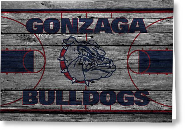 Recently Sold -  - Dunk Greeting Cards - Gonzaga Bulldogs Greeting Card by Joe Hamilton