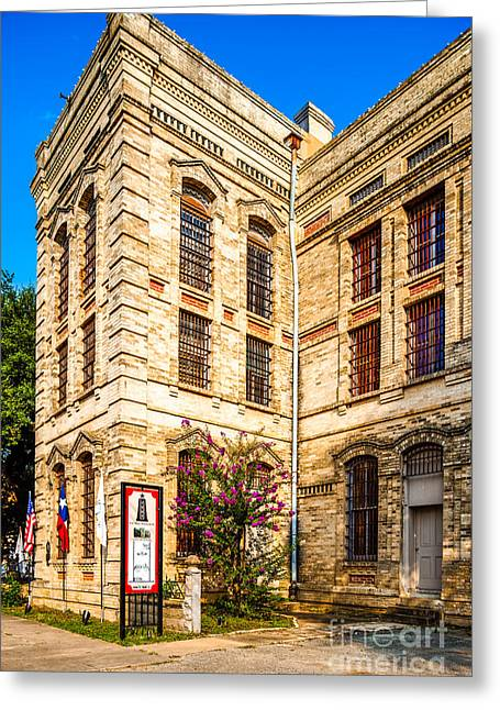 Crape Greeting Cards - Gonzales County Old Jail Museum - Gonzales Texas Greeting Card by Silvio Ligutti