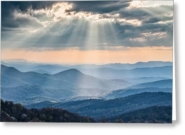 Streaming Light Greeting Cards - Good Afternoon from Max Patch Greeting Card by Rob Travis