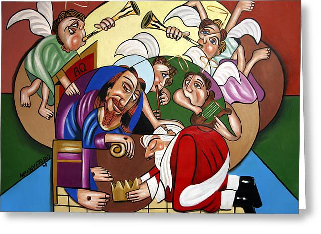 Jesus Canvas Greeting Cards - Good And Faithful Servant Greeting Card by Anthony Falbo