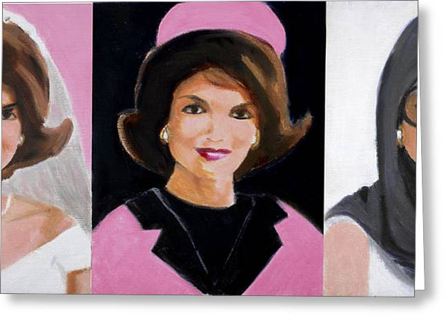 First Lady And President Greeting Cards - Good and Plenty Jackie O  Greeting Card by Candace Lovely