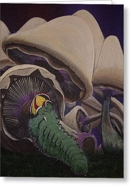 Purple Mushrooms Greeting Cards - Good day in the forest Greeting Card by Gerard Provost