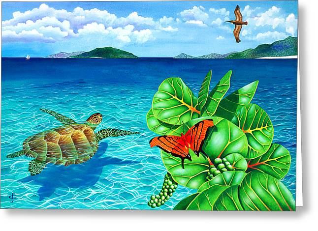 Sea Animals Greeting Cards - Good Day Sunshine Greeting Card by Carolyn Steele