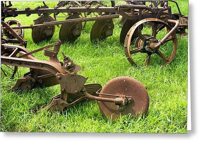 Old Plows Greeting Cards - Good Enough To Still Use Greeting Card by Paul W Faust -  Impressions of Light