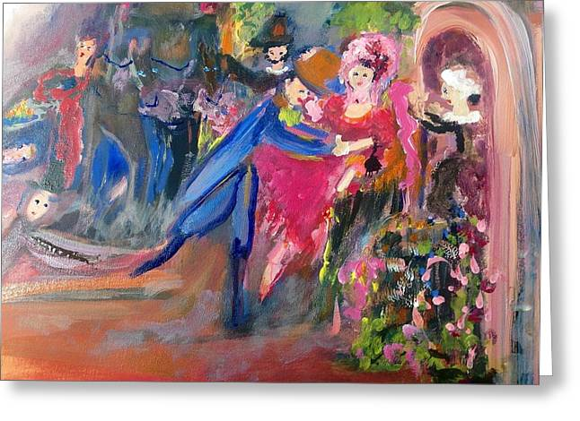 Dancers Rehearsing Greeting Cards - Good first rehearsal Greeting Card by Judith Desrosiers
