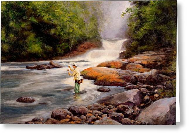 Autum Greeting Cards - Good Fishing SOLD Greeting Card by Michael Swanson