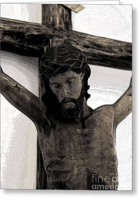 Calvary Greeting Cards - Good Friday Crucifixion Greeting Card by Al Bourassa
