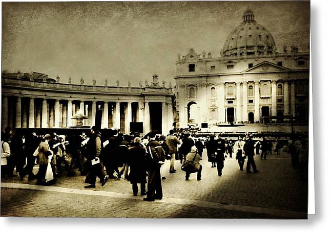 The Vatican Greeting Cards - Good Friday The Vatican Greeting Card by Diana Angstadt