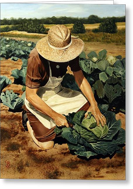 Harvest Time Paintings Greeting Cards - Good Harvest Greeting Card by Glenn Beasley