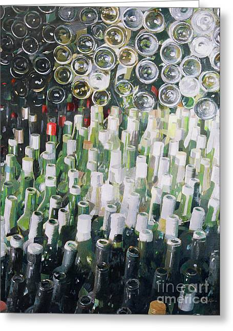 Glass Of Wine Greeting Cards - Good Life Greeting Card by Lincoln Seligman