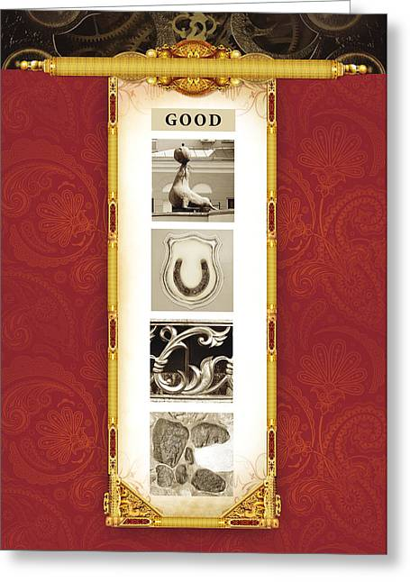 Smart Pyrography Greeting Cards - Good luck greeting card for a man Greeting Card by Sun Kris