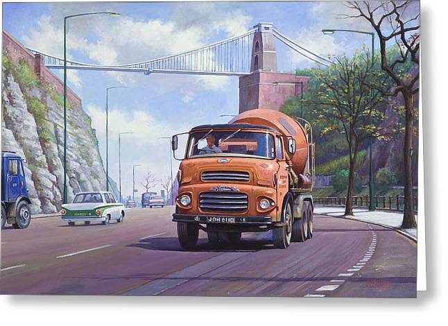 1960 Paintings Greeting Cards - Good mixer Greeting Card by Mike  Jeffries