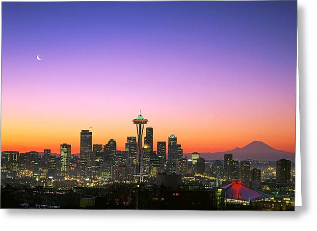 Skyline Greeting Cards - Good Morning America. Greeting Card by King Wu
