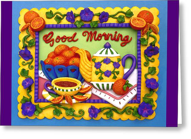 Good Morning Greeting Card by Amy Vangsgard