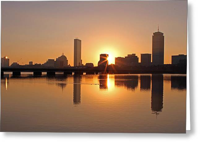 Charles River Greeting Cards - Good Morning Boston Greeting Card by Juergen Roth