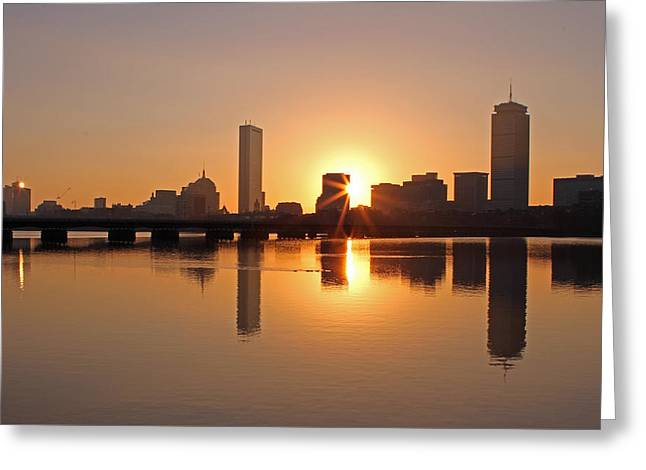 Good Morning Boston Greeting Card by Juergen Roth