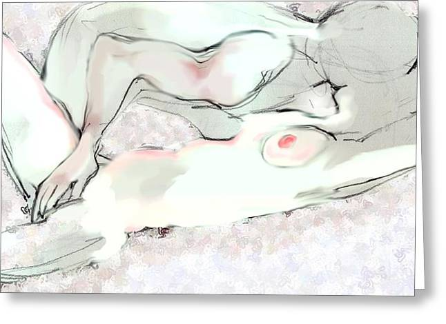 Good Morning - Erotic Art Greeting Card by Carolyn Weltman