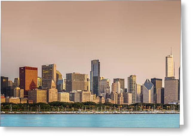 City Lights Greeting Cards - Good Morning Chicago Greeting Card by Sebastian Musial