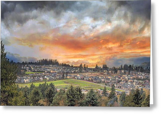 Good Morning City Of Happy Valley Greeting Card by David Gn