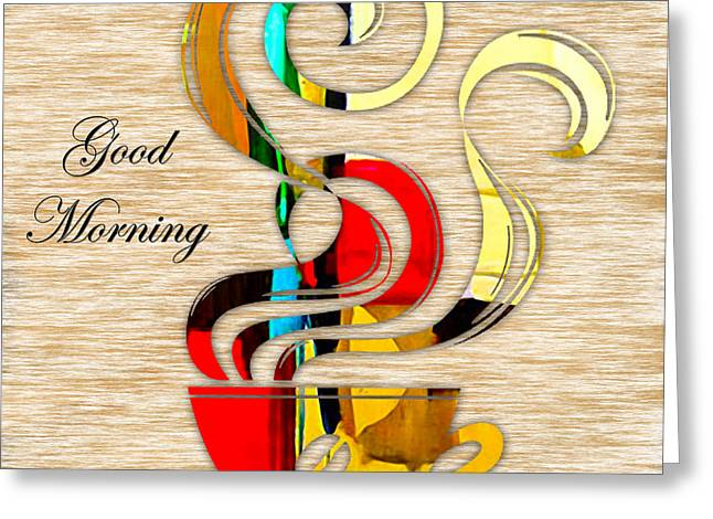 Dinning Room Greeting Cards - Good Morning Coffee Greeting Card by Marvin Blaine