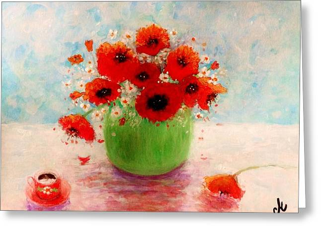 Hand Made Paintings Greeting Cards - Good morning.. Greeting Card by Cristina Mihailescu