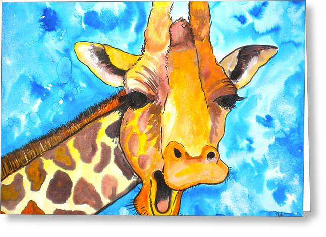Ink Drawing Greeting Cards - Good Morning Greeting Card by Debi Starr