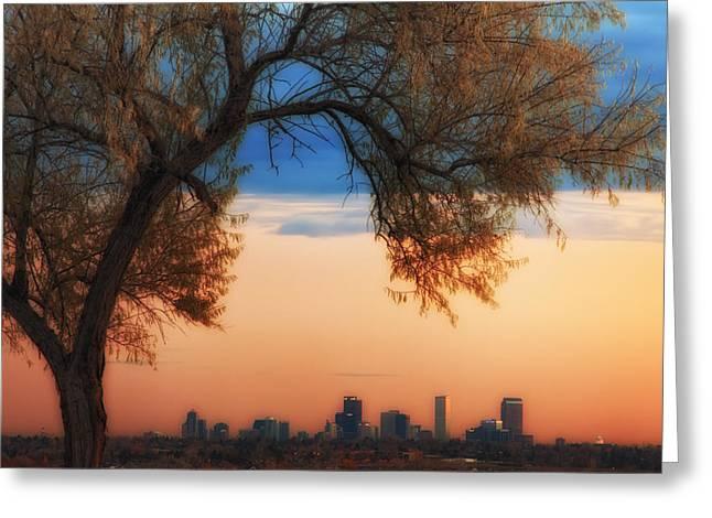 Good Morning Denver Greeting Card by Darren  White