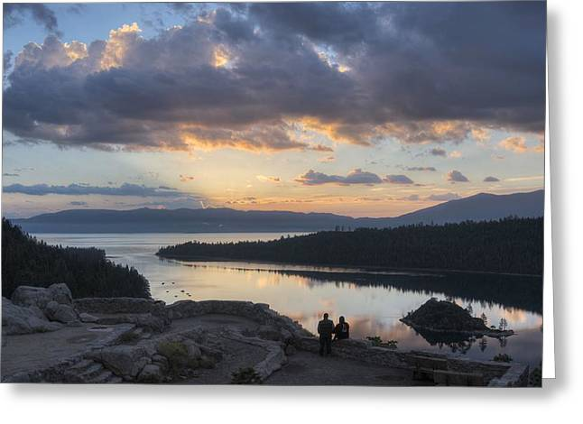 Sel Greeting Cards - Good morning Emerald Bay Greeting Card by Peter Thoeny