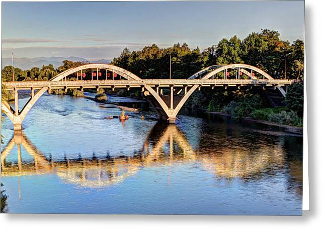 Nature Scene Greeting Cards - Good Morning Grants Pass Greeting Card by Heidi Smith