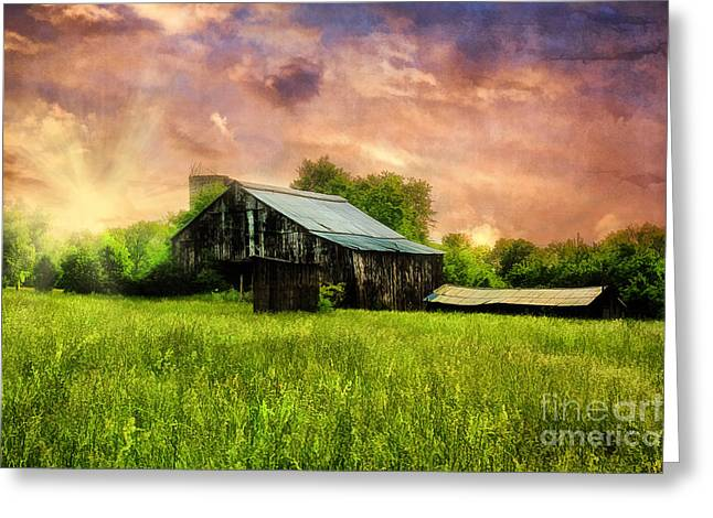Old Country Roads Greeting Cards - Good Morning Kentucky Greeting Card by Darren Fisher