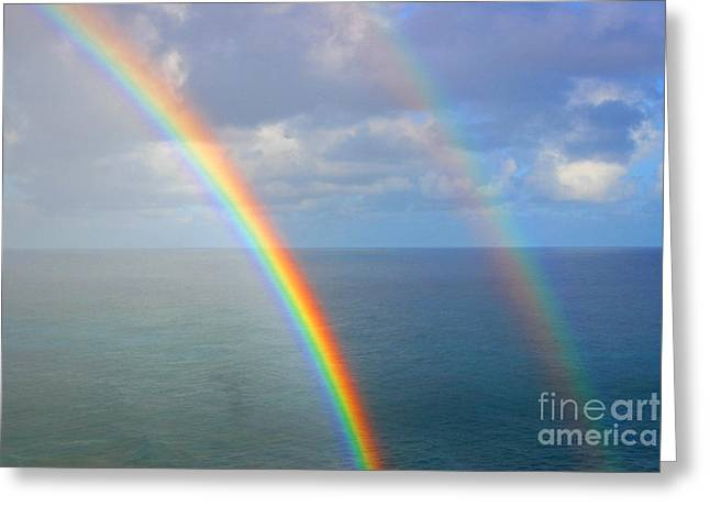 Double Rainbow Greeting Cards - Good Morning Greeting Card by Kris Hiemstra