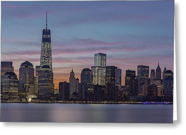 World Trade Center Greeting Cards - Good Morning New York City Greeting Card by Susan Candelario
