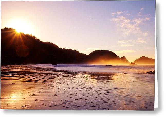 Pacific Northwest Greeting Cards - Good Morning Oregon Greeting Card by Darren  White