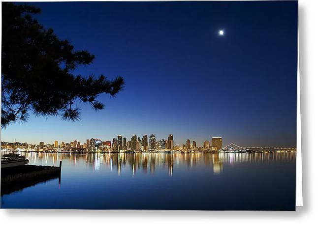 City Lights Greeting Cards - Good Morning San Diego Greeting Card by Sean Foster