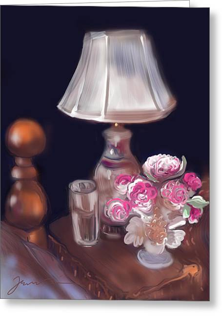 Interior Still Life Drawings Greeting Cards - Good Morning Sunshine Greeting Card by Jean Pacheco Ravinski
