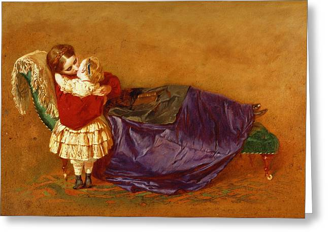 Embrace Greeting Cards - Good Night, 1863 Greeting Card by George Elgar Hicks