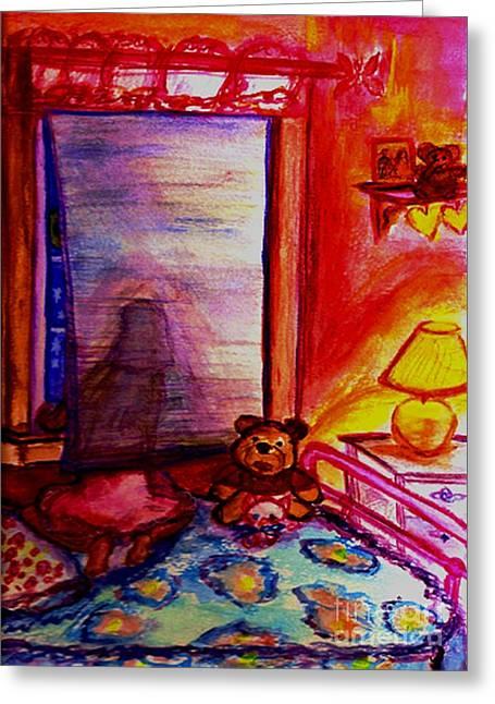 Night Angel Greeting Cards - Good Night Angels Greeting Card by Helena Bebirian