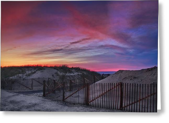 Good Night Cape Cod Greeting Card by Susan Candelario