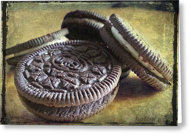 Oreo Greeting Cards - Good old Oreos Greeting Card by Barbara Orenya