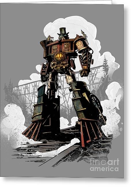 Robots Greeting Cards - Good Robot Greeting Card by Brian Kesinger