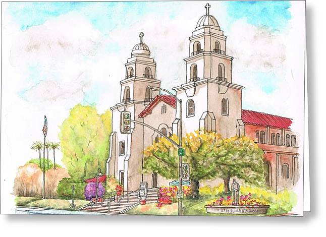 Good Shepherd Catholic Church In Beverly Hills - California Greeting Card by Carlos G Groppa