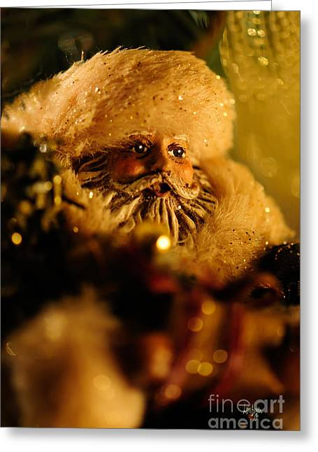 Nicholas Greeting Cards - Good St. Nick Greeting Card by Lois Bryan