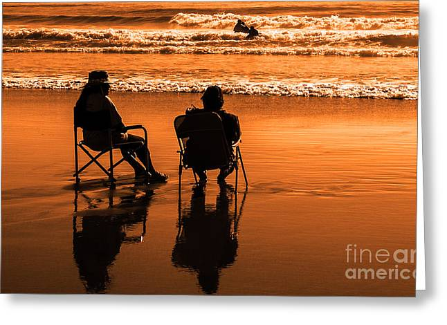 Lawn Chair Greeting Cards - Good Times Greeting Card by Bob Zuber