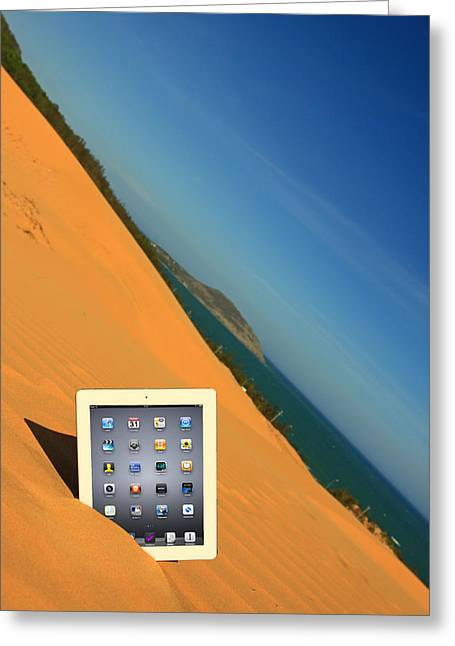 Suradej Greeting Cards - Goodbye Ipad Greeting Card by Suradej Chuephanich