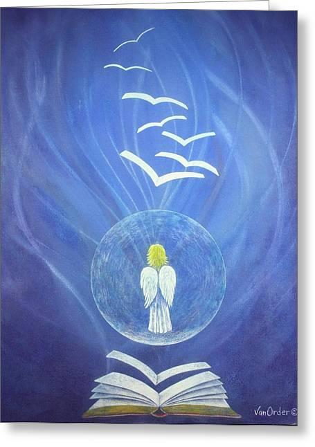 Bible Pastels Greeting Cards - Goodnews Healing Greeting Card by Richard Van Order