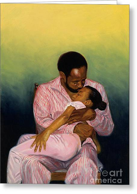 African American Artist Greeting Cards - Goodnight Baby Greeting Card by Colin Bootman